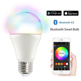 $enCountryForm.capitalKeyWord NZ - Bluetooth Smart Light Bulb Dimmable 9 Watt Equivalent 60W Light Wake Up LED Lights & Sleeping Night Light Smartphone Controlled Xmas Seas