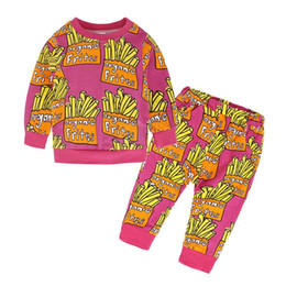 autumn children set baby girl toddler Australia - wholesale 2017 kids girls frites tracksuit baby two pieces clothing toddler autumn sets children sweater and pants suit for 80-110