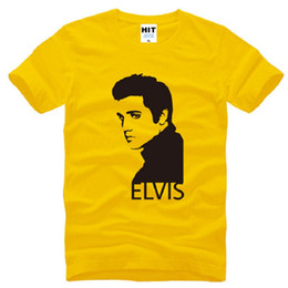 Design Tee Shirts Canada - New Design Elvis Presley T Shirts Men Cotton Short Sleeve Printed Men's T-Shirt Summer Style Male Music Tee Shirts Fans Clothing