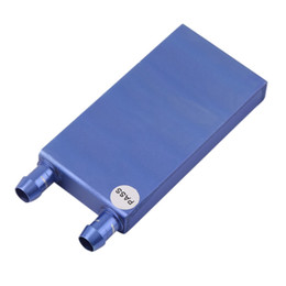 Discount aluminum water block - Wholesale- 40*80*12mm Aluminium Water Cooling Waterblock Heatsink Block Liquid Cooler For CPU GPU Laser Head Industrial