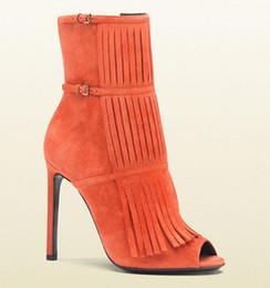 $enCountryForm.capitalKeyWord NZ - 2017 peep toe summer boots women tassel booties thin heel 12cm heel gladiator sandal boots ladies party shoes fringe bota woman
