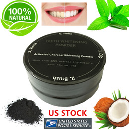 100% Natural Organic Activated Charcoal Natural Dents Blanchiment Poudre Supprimer Fumée Thé Café Taches jaunes Bad Breath Oral Care 30g / bottle