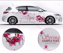 $enCountryForm.capitalKeyWord Canada - A Set auto motor rose red cherry blossom power vehicle truck Car Truck Decal Vinyl WRC Totem Graphics Side Decal Body Sticker