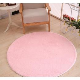 3cm bathroom rug mat round silk hair wool length diameter 80cm decor floor carpet