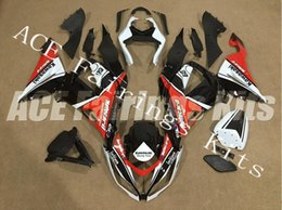 Red Black Kawasaki Zx6r NZ - Three free beautiful gift new high quality ABS Injection fairing plates for Kawasaki Ninja ZX6R 599 636 2013-2016 nice white red black