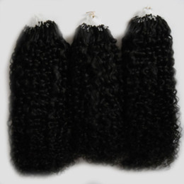 Afro kinky humAn hAir extensions online shopping - Natural Color afro kinky curly micro loop hair extensions g mongolian kinky curly hair Micro Link Hair Extensions Human s