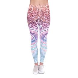yoga pant pattern free 2019 - Women Leggings Aztec 3D Graphic Print Girl Skinny Stretchy Pencil Pants Yoga Colorful Pattern Sportwear Elastic Waist So