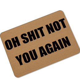 halloween doormats funny sign oh shit not you again home decorative door mats magic welcome floor mats front porch rugs udh02 - Halloween Rugs