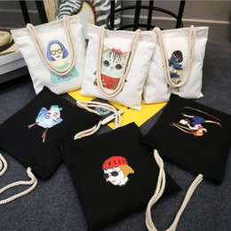 Discount large easter gift bags 2018 large easter gift bags on discount large easter gift bags halloween gift bags large cotton canvas hand bag animalcartoon negle Image collections