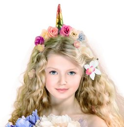 Robes De Fantaisie Mignonnes Pas Cher-Prom Cute Sheep Animal Horn Ear Unicorn Headband Headbands Halloween Fancy Dress Headwear Kids Cosplay Props Accessoires cheveux Décor # 12