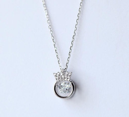 $enCountryForm.capitalKeyWord Australia - 2017 new Heartbeat necklace heartbeat necklace female clavicular chain 925 pure silver simple crown short necklace