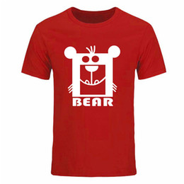 mens casual short sleeve t shirts Australia - 2017 Fashion Men's T Shirt Bear Print Short Sleeve T Shirt Men Summer Casual Mens T Shirts Free shipping Plus Size XXXL DIY-0199D