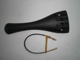 Discount violin fine tuners - 1 PC Quality Carbon Fiber Violin tailpiece 4 4 with fine tuners and 1 pc nylon tail gut