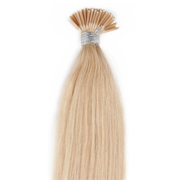 China 613 Blonde i stick i-tip Human hair extensions straight Brazilian human hair pre-bonded hair extensions 50 gram In Stock cheap lighting tips suppliers