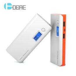 $enCountryForm.capitalKeyWord Australia - Power Bank 12000mAh 18650 External Battery Portable Mobile Phone Charger Universal Dual USB Powerbank for Phones Tablets
