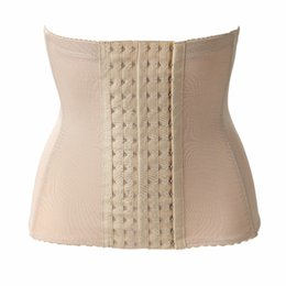 Barato Senhora, Magro, Peso-Atacado- 6Hooks Mulheres Cintura Trainer Cinto Cintura Respirável Cinchers 4 Steel Bone Waist Shapers Slim Clip Find Lady Loss Weight Keep Fit