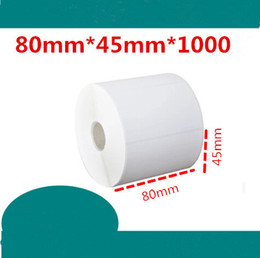 $enCountryForm.capitalKeyWord Canada - 80*45mm 1000pcs roll blank white free shipping office coated paper barcode self adhesive sticker label for printer