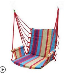 Wholesale hammock outdoor dormitory bedroom swing send tying pouch colors Swinging hanging chair hammock thick canvas