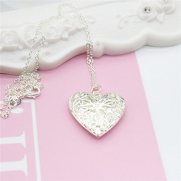 Easter gifts for girlfriend online easter gifts for girlfriend fashion exquisite 925 silver heart pendant necklaces can be opened for girlfriend gift collarbone chain necklace negle Images