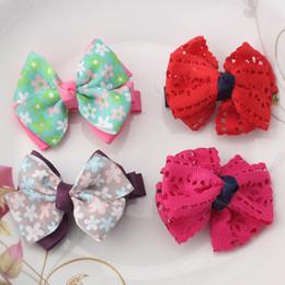 $enCountryForm.capitalKeyWord NZ - Wholesale- Kids Headwear Children Hollow Hair Ornaments Flower Girls Butterfly Ties Hairpins Bowknot Hair Accessories Bbays Hairclips