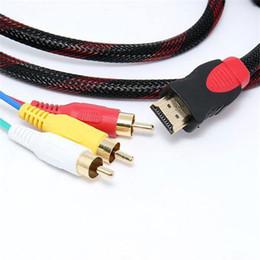 $enCountryForm.capitalKeyWord Canada - Feet 1.5M HDMI Male Input to 3 RCA Plug Video Audio AV Cable Adapter Converter Connector