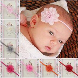 $enCountryForm.capitalKeyWord Canada - Kids Chiffon Flower Hairbands Soft Newborn baby Girls Headband Elastic Turban Hair Bands hair Accessories 13 colors