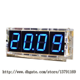 Venta al por mayor de 4 Digit LED DIY Electronic Digtal Alarm Clock Kit Module Pantalla grande LED azul Practice Set