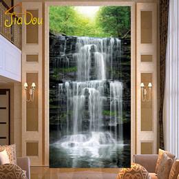 Wholesale  Custom Landscape Waterfall Scenic Woods 3D Mural Papel De Parede  3D Living Room Wall Paper Background Photo Wallpaper Home Decor Part 64