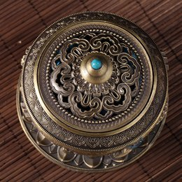 ShoeS africa online shopping - Eight Treasure Incensory For Home Decorative Articles Craft Censer Antique Alloy Incense Burner Buddhist Supplies Multi Color zg C R