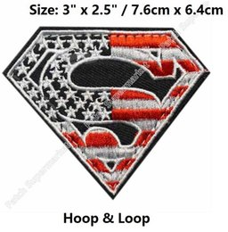 $enCountryForm.capitalKeyWord Australia - SUPERMAN SUPER MAN HERO AMERICAN FLAG USA ARMY TACTICAL US MILITARY OPS RED Hoop & Loop PATCH tv movie series MORALE MILSPEC