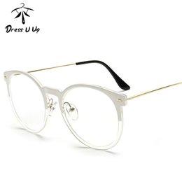 bad13c0771d0 Wholesale- DRESSUUP Retro Round Glasses Frame For Women Men Cat Eye Eyeglasses  Frame Clear Eyeglass Spectacle Optical Eyewear Luxury