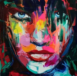 $enCountryForm.capitalKeyWord Australia - Woman Face,Framed Pure Hand-painted Abstract Portrait Wall Art oil painting on canvas For Home decor Multi sizes Free Shipping Ab181