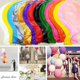 "Discount 36 inches helium balloons - Best Quality 10pcs lot 36"" Latex Balloon Giant Balloons For Wedding Party Birthday Helium Decoration Kids Super Bal"