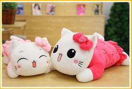 $enCountryForm.capitalKeyWord Canada - 35 45CM Hello Kitty Plush Toys Pillow KT Cat Stuffed Dolls For Girls Kids Toys Gift Animal Plush Doll Lie Prone Plush Toy