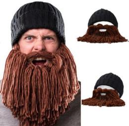 Viking Beard Hat Canada - Funny Winter Warm Women Men Kids Wool Mustache  Knitted Hats Pirate 2b1a5c295fd