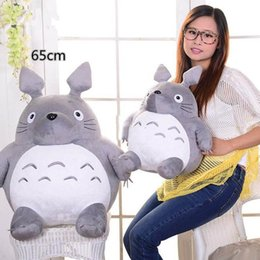 2018 japan presents 26'' Hot Japan Anime Totoro Plush Toy Giant 65cm Cute Cartoon Stuffed Totoro Doll Kids Pillow Baby Present discount japan presents