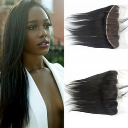 $enCountryForm.capitalKeyWord NZ - G-EASY Hair Brazilian Straight Lace Frontal Closure Middle Free part 2 Option,13*4 Virgin Human Hair Ear to Ear Lace Frontals