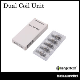Kanger Replacement Heads Canada - Kanger Dual Coil Unit Kanger Replacement Coils For Protank III Atomizer Coil Head for Mini ProtankIII 100% Authentic