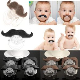 Coffres-forts De Nouveauté En Gros Pas Cher-Grossiste-Mode Funny Dummy Mannequins Sucette Nouveauté Dents Moustache Babys Enfant Soother Beard Nipples Kids Gift Safe Feeding