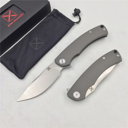 Discount knives ship free - Free shipping,YX-650 original free shipping blasting non-slip gray titanium handle knife D-2 knife hunting outdoor survi