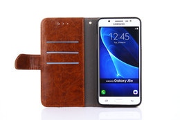 $enCountryForm.capitalKeyWord UK - Wholesale Stitching Leather Case For Samsung Galaxy S5 S6 S7 Luxury Wallet Case Flip With Stand Card Holder Funda Cover