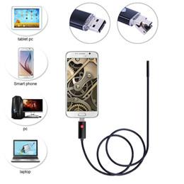 7mm 2 en 1 Android cámara de endoscopio USB Smart Android Phone OTG USB Borescope Snake Tube inspección 6PC LED