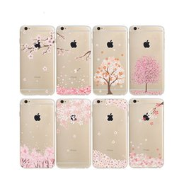 cherry blossom iphone Canada - Cherry Blossoms Painting Cases Soft TPU Clear For Samsung Galaxy S8 Plus S6 S7 EDGE J5 J7 Prime Iphone 7 6S Plus