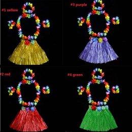 $enCountryForm.capitalKeyWord Australia - 30cm Kids Hawaiian Flower Hula Lei Garland Headband Wristband Skirt Fancy Dress Costume Birthday Party Supplies