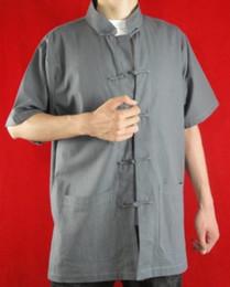 $enCountryForm.capitalKeyWord Canada - Fine Linen Grey Kung Fu Martial Arts Tai Chi Shirt Clothing XS-XL or Tailor Custom Made