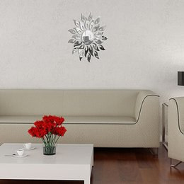 2017 Sun Wall Murals Sun Mirror Design Acrylic Silver Wall Sticker Frame  Luxury Living Room Bedroom Part 90