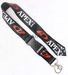 phone lanyard keys id neck straps Canada - New!APEXI Lanyard Keychain Key Chain ID Badge cell phone holder Neck Strap black and white.