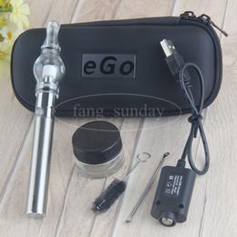 Ego T Glass Dome Australia - EGO T Wax Glass Globe Vape Pens Starter Kit Zipper Case Pack Wholesale 650mah 900mah 1100mah Vaporizer Battery Dab Dome Tank e cigs