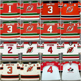 sale retailer d5220 e759e new jersey devils 3 ken daneyko red with green jersey