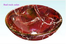 Vente en gros Lavabo Produits en verre Nettoyage de la salle de bain Double vitrage Arts Home Decoration Fabriqué en Chine évier (8346-R)